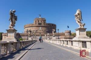 Vue du Castel Sant'Angelo depuis le pont Sant'Angelo